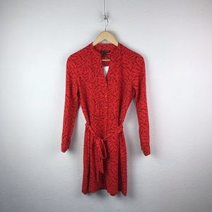 Banana Republic l Red French Words Tie Shirt Dress